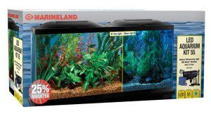 MarineLand LED 55 Gallon Aquarium in Packaging